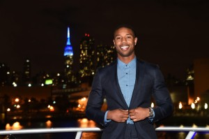 Yacht-Events honored to host-Michael B. Jordan sets sail to celebrate new AXE Gold Temptation at Pier 81 on August 12, 2014 in New York City.